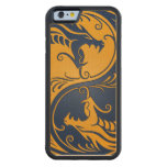 Blue and Yellow Yin Yang Dragons Carved® Maple iPhone 6 Bumper