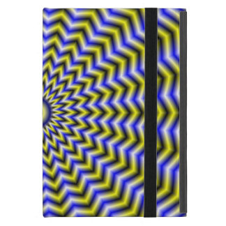Blue and Yellow Zigzag Ripples iPad Mini Covers