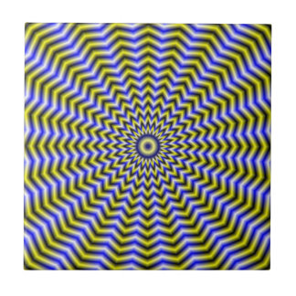 Blue and Yellow Zigzag Ripples tile