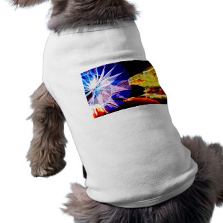 BLue and Yellow Zoomed Fair Rides Dog T-shirt