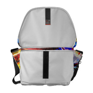 BLue and Yellow Zoomed Fair Rides Commuter Bag