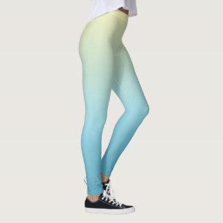 Blue and YellowPastel Gradient Leggings