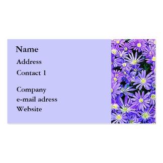 Blue Anemone Flower Field (2013) Business Cards
