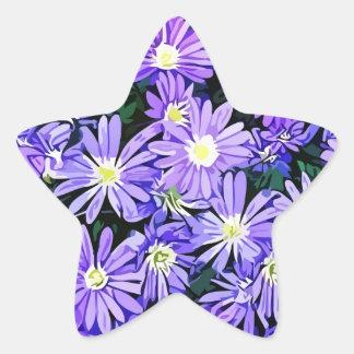 Blue Anemone Flower Field (2013) Star Sticker