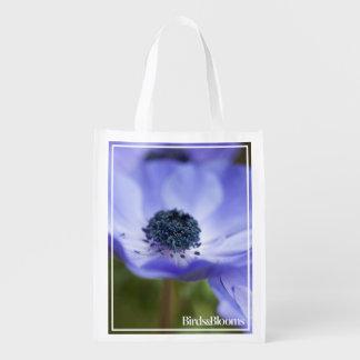 Blue Anemone Grocery Bag