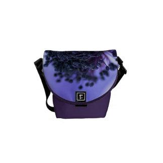 Blue Anemone Mini Messenger Bag Outside Print