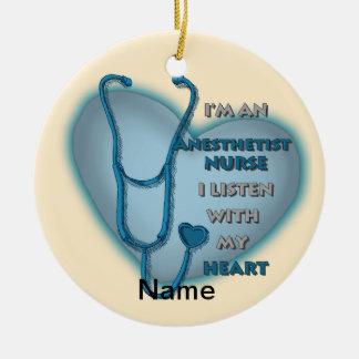 Blue Anesthetist Ceramic Ornament