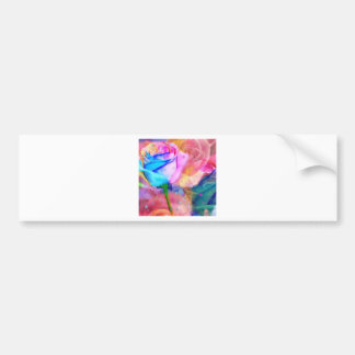Blue ang pink roses bumper sticker