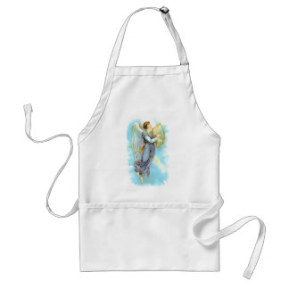 Blue Angel And Harp Adult Apron