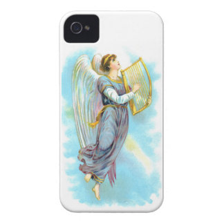 Blue Angel And Harp iPhone 4 Case