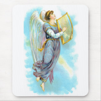 Blue Angel And Harp Mouse Pad