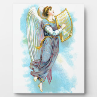 Blue Angel And Harp Plaque