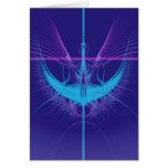 Blue Angel Birthday Card