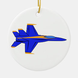 Blue Angel Ceramic Ornament
