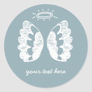 Blue Angel Classic Round Sticker