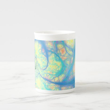 Blue Angel – Cosmic Azure & Lemon Bone China Mug