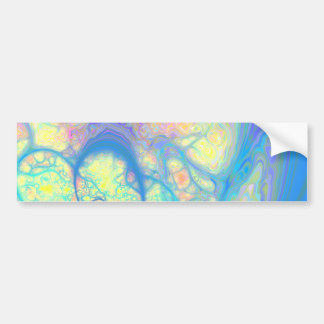 Blue Angel – Cosmic Azure & Lemon Bumper Sticker