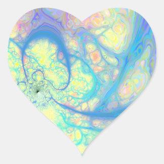 Blue Angel – Cosmic Azure & Lemon Heart Sticker
