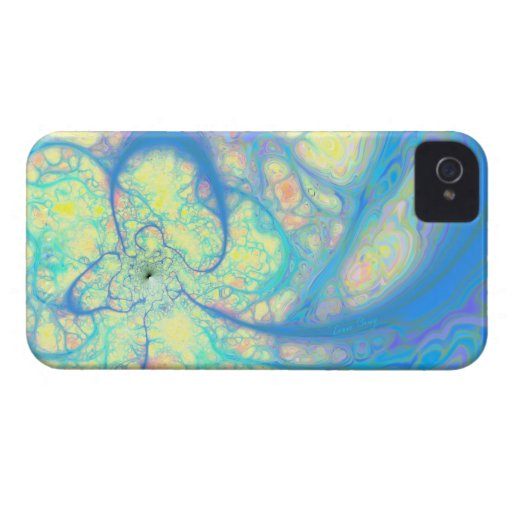 Blue Angel – Cosmic Azure & Lemon iPhone 4 Case-Mate Case