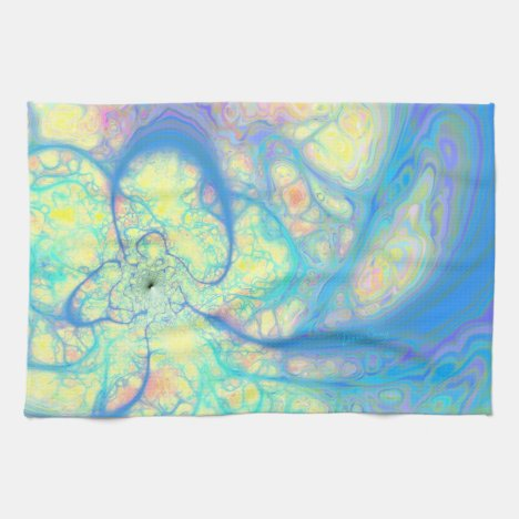 Blue Angel – Cosmic Azure & Lemon Kitchen Towel