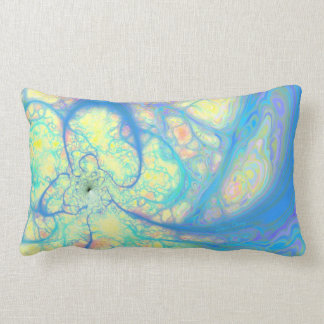 Blue Angel – Cosmic Azure & Lemon Lumbar Pillow