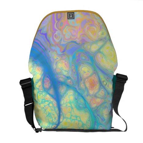 Blue Angel – Cosmic Azure & Lemon Messenger Bag