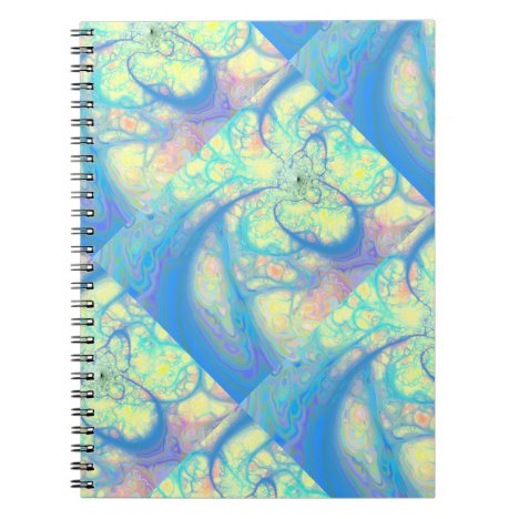Blue Angel – Cosmic Azure & Lemon Notebook