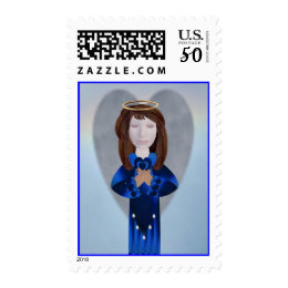 Blue Angel in Prayer Postage
