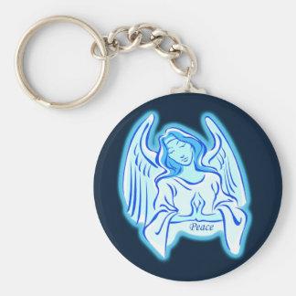 Blue Angel Of Peace Key Chain