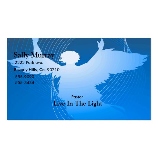 Blue Angel Set Business Card Template