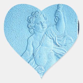 Blue Angel Heart Stickers