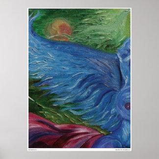 Blue Angel Sunrise Poster