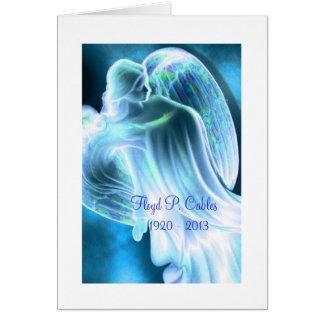 Blue Angel Sympathy Thank You Card