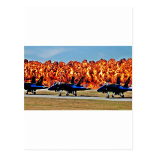 Blue Angel Wall of Fire Postcard