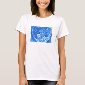 Blue Angel with Puppy Dog Ladies Shirt