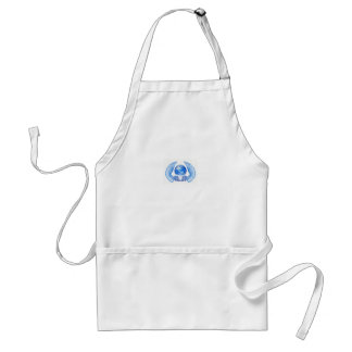 Blue Angelic Planet Earth Wings Apron