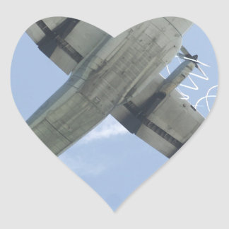 Blue Angels Big Boy Heart Sticker