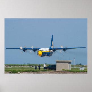 Blue Angels C-130 Hercules Low Takeoff Poster