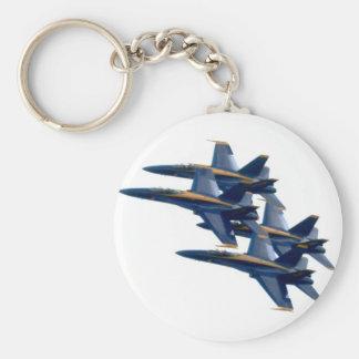 Blue Angels diamond Basic Round Button Keychain