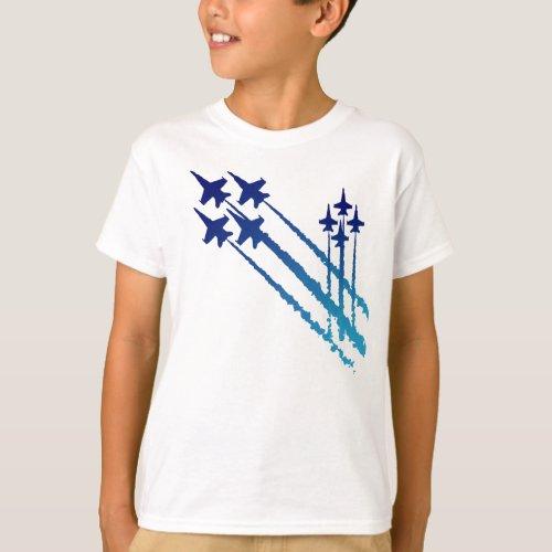 Blue Angels Double Diamonds Kids T_Shirt