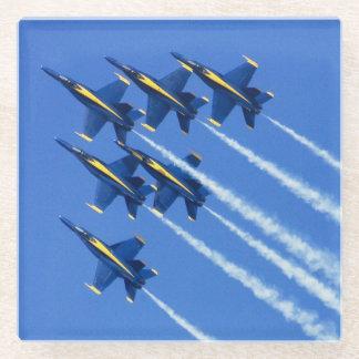 Blue Angels flyby during 2006 Fleet Week 2 Glass Coaster