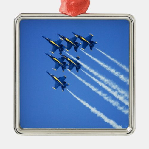 Blue Angels flyby during 2006 Fleet Week 2 Metal Ornament