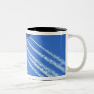 Blue Angels flyby during 2006 Fleet Week 2 Two-Tone Coffee Mug
