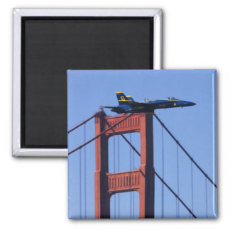 Blue Angels flyby during 2006 Fleet Week 3 2 Inch Square Magnet