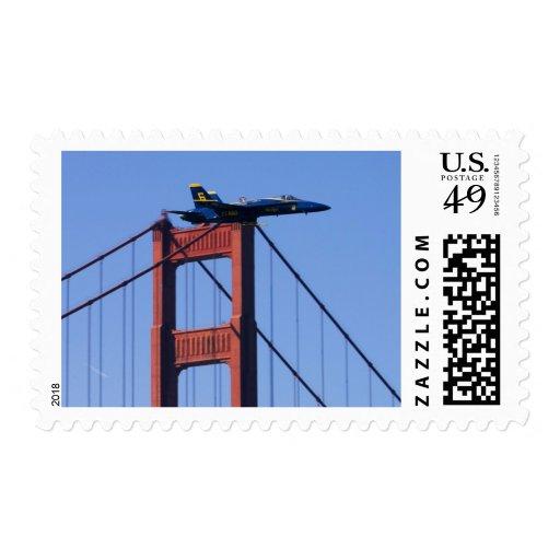 Blue Angels flyby during 2006 Fleet Week 3 Postage Stamps