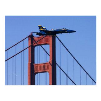 Blue Angels flyby during 2006 Fleet Week 3 Post Card