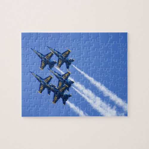 Blue Angels flyby during 2006 Fleet Week Jigsaw Puzzle