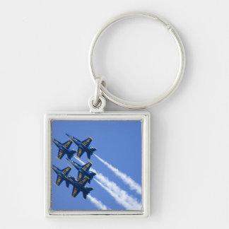 Blue Angels flyby during 2006 Fleet Week Keychain