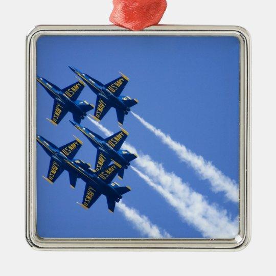 Blue Angels flyby during 2006 Fleet Week Metal Ornament