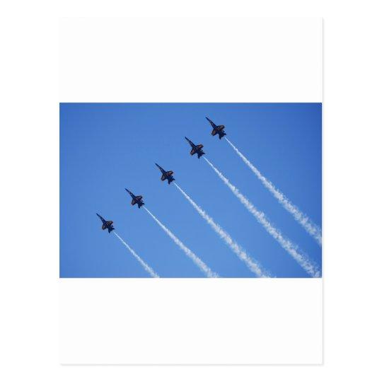 Blue Angels in Flight Postcard